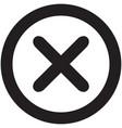 wrong icon black vector image