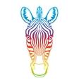 Zebra rainbow head vector image vector image