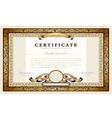 Vintage gold certificate vector image