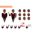 african american character for scenes vector image