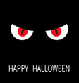 evil red eyes in dark night angry cartoon vector image