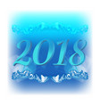 2018 christmas blue background vector image