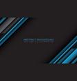 abstract blue grey cyber geometric slash vector image vector image