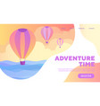 adventure time poster design or web template vector image