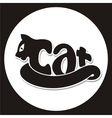 animals logo cat vector image