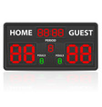 basketball sports digital scoreboard vector image vector image