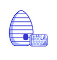 beehive with honeycombs icon vector image