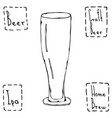 beer glass weizen type hand drawn vector image vector image