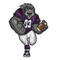 big bad wolf - american football mascot character vector image vector image