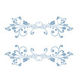blue floral decoration dividers vector image