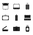 briefcase icon set simple style vector image vector image