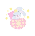 Bunny Sleeping In Bed vector image
