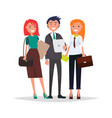 business people in formal wear managers vector image vector image