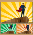 Businessman hero vector image vector image