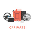 Car parts set Car service icon set Car parts shop vector image vector image