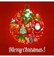 Christmas bauble ball with holiday symbols vector image vector image