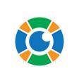 circle eyecare logo image vector image vector image