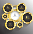 Circle gold with icons vector image vector image