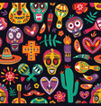 colored seamless pattern with traditional dia de vector image