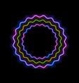 colorful glowing neon wavy circles abstract vector image vector image