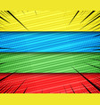 comic bright horizontal banners vector image