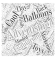 Cool Advertising Balloons For Your Marketing Word vector image vector image