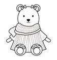cute female polar bear childish character vector image