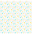 Cute little colorful water drops rain pattern vector image vector image