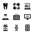Doctoral icons set simple style vector image