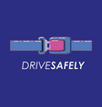 drive safely design vector image vector image