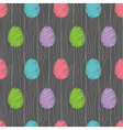 easter eggs pattern dark vector image vector image
