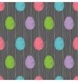 easter eggs pattern dark vector image