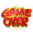 game over icon for ui game vector image vector image
