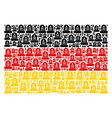 germany flag mosaic of grave items vector image