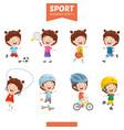 girl making sport vector image vector image