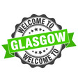 glasgow round ribbon seal vector image vector image