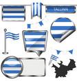 glossy icons with flag tallinn estonia vector image vector image