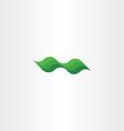 green leaf eco wave design element vector image