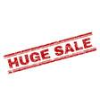 grunge textured huge sale stamp seal vector image vector image