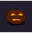Halloween Evil Pumpkin on Dark Background vector image vector image