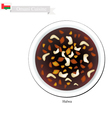 Halwa or Omani Corn Starch Jelly with Saffron vector image vector image