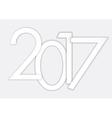 Happy 2017 new year number vector image vector image