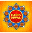 Happy Diwali background coloful watercolor diya vector image vector image
