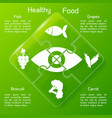 healthy food puzzle template vector image vector image