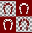 horseshoe sign bordo and vector image vector image