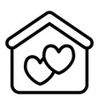 house with heart line icon marriage house vector image