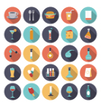 icons flat colors food vector image