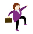 isolated businesswoman icon vector image
