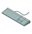 keyboard icon isometric 3d style vector image vector image