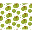 Kiwi seamless pattern Kiwifruit endless vector image